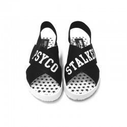 SHOP ART - Sandalo Nero Con Fascia Stampata