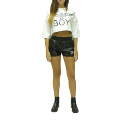 BOY LONDON - Maglia In Ecopelle