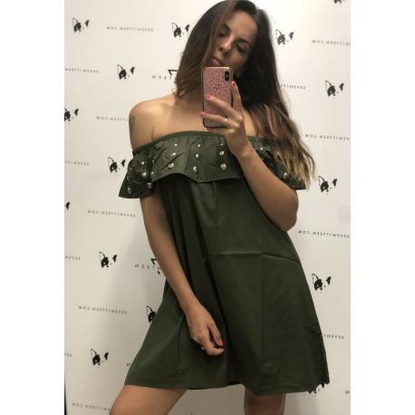 SHIKI - Mini Dress Con Borchie