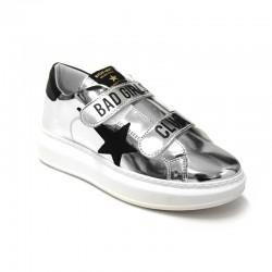 SHOP ART - Sneakers Argento Strappo